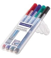 Viltstift Staedtler Correctable vier kleuren